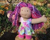 """RESERVED Custom Waldorf Girl Doll for Selena - 15"""" Girl"""