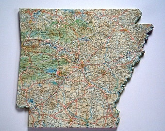 ARKANSAS State Map Wall Decor | Perfect Gift for Any Occasion | State Art | Medium Size