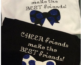 Cheer Friends Make the Best Friends Tank & Cheer Bow