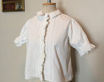 Vintage 1900s White Cotton Blouse