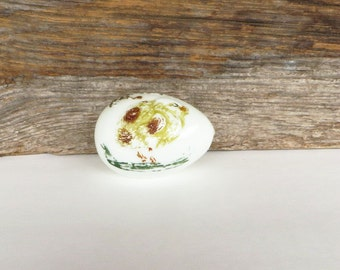 Milk Glass Easter Egg Hand Blown Easter Chick Glass Egg Victorian, Edwardian Era Early 1900's