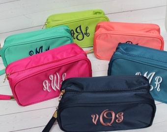 Bridesmaid Gift - Cosmetic Bag - Monogram bag -  Personalized  Makeup Bag - Personalized Gift - Monogram Bag - Toiletry Bag - Cosmetic Bag