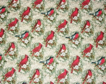 Bird Fabric, Christmas Fabric, By The Yard, David Textiles Fabrics, Quilting Sewing Fabric, Quilt Fabric, Red Bird Fabric, Accent Fabric