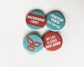 button pin, button badge set : nacho libre icon set