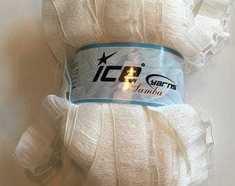 Ice Yarn Samba White Railroad style knitting crochet yarn