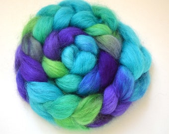 Hand Dyed Massam (Masham) Spinning Felting Fiber Top Roving