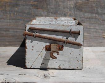 Vintage Wood and Metal Drawer