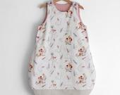 Baby boy sleep sack, sleeping bag for babies. Baby shower gift idea. Size 6-12 months. Immediate shipping.
