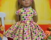 "Fits 18"" Kidz 'n' Cats Doll .. Tutti-Fruity 50's Style Dress ..D1169"