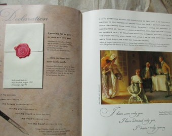 vintage book- Love Letters An Anthology of Passion by Michael Lovric, antique letters, quotations, sealing wax