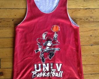 Vintage NCAA UNLV Rebels reversible mesh basketball jersey