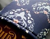 Deer Silhouette Flower Crown Heart Book Sleeve Foam Lining One Size