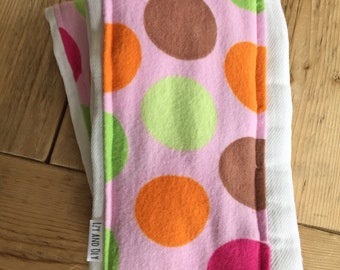Pink with Giant Dots Burp Cloth - Set of 2 - New Baby Shower Gift