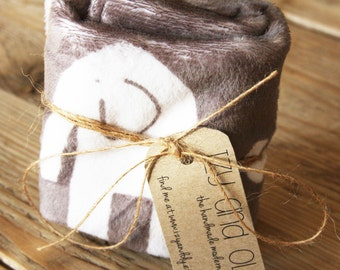 Baby Lovie - Elephants - soft luvie - made and ready to ship