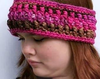 Granite Headband/Ear Warmer Crochet Pattern