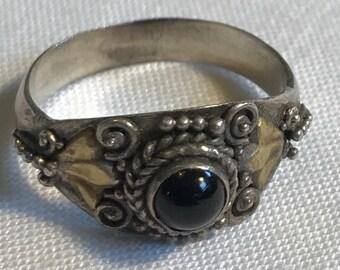 Sterling Silver Carnelian Ring-Size 6 1/4