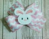 Easter Bunny Hair Bow, Bunny Feltie Bow, Easter Hair Clips, Boutique Bow