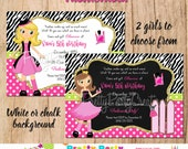 FASHIONISTA invitation - you print - 2 to choose