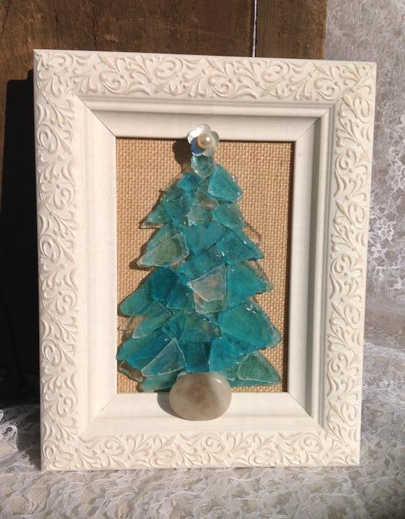 Items Similar To Sea Glass Christmas Tree Beach Themed