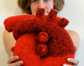 I Give You My Heart - Pillow Knitting Pattern