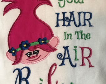 Trolls Embroidered Shirt (Name Included) With or Without Saying; Trolls Birthday Shirt
