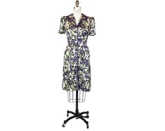 1930's-40's Floral Mesh Dress