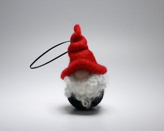 Needle Felt Christmas Hanging Gnome Tomte Santa Christmas Ornament Gift