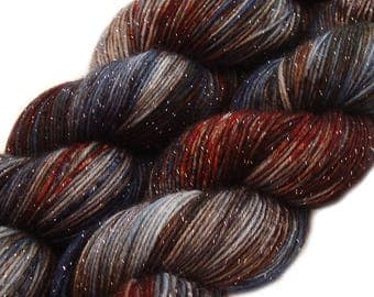 hand dyed yarn WINTER IS COMING pick your base - sw merino bfl silk nylon stellina fingering dk