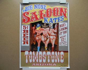 Poster, BIG NOSE KATE'S Saloon, Tombstone Arizona