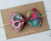 Liberty of London Floral {MILLIE} Bow - Nylon Headband - Spring + Summer 2017