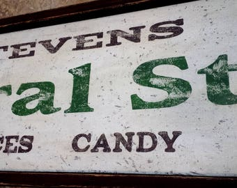 Antique Style General Store Sign - Handmade Vintage Wooden Style Signs
