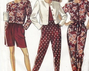 "Sewing Pattern New Look 6969 Women's Pantsuit Pants Shorts and Jacket Size 8-18 Bust 31.5-40"" Waist 24-32"" Hip 33.5-42"""