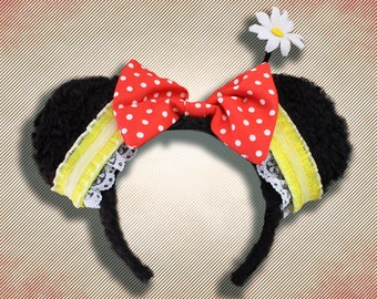 Classic Mouse Girlfriend Mouse Ear Headband with Bow