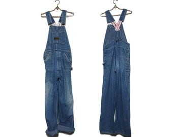 SML | 1950's Washington Dee Cee Low Back Sanforized Denim Overalls