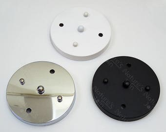 "150mm / 5.9"" Two Holes Round Ceiling Canopy Mounting Kit - 3 Colour 