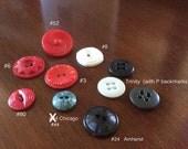 Colt Buttons, set of 9