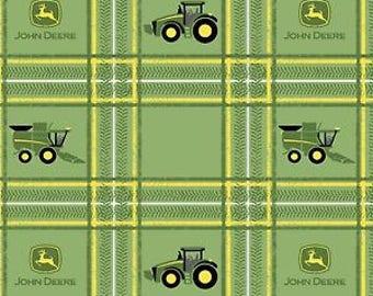 John Deere Fabric Green By Fat Quarter New BTFQ