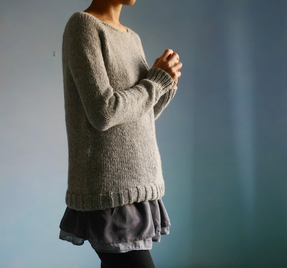 Knitting Pattern Pdf Hygge Pullover Sweater Pattern From