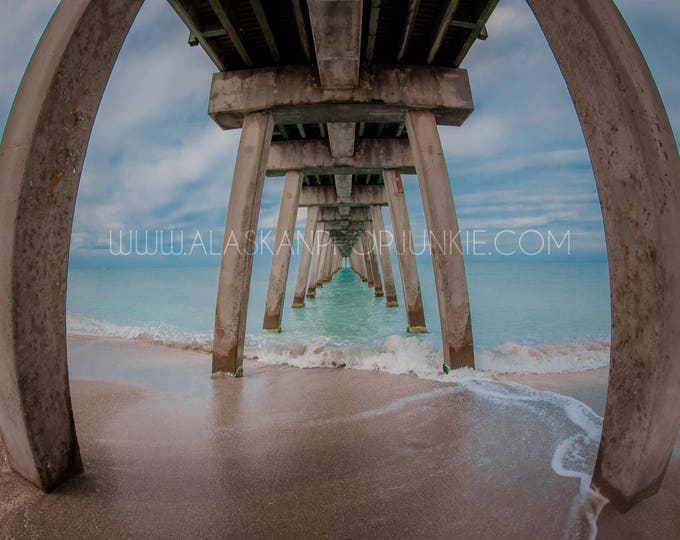 Beach 3 Digital Background - Instant Download, Stock Photo, Florida Beach, Blue Water