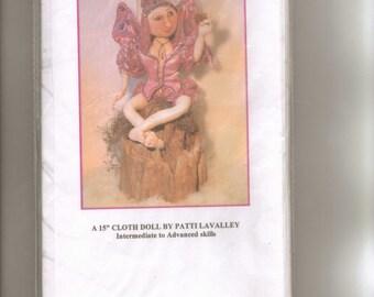 "Doll Pattern, ""Gretchen a Garden Sprite,"" 15 inch Cloth Doll by Patti LaValley."