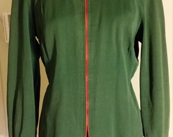 Reversible Ski Jacket Green Red Large...XL