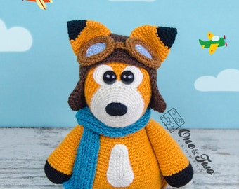 "Howard the Little Fox ""Little Explorer Series"" Amigurumi - PDF Crochet Pattern - Instant Download - Amigurumi Cuddy Stuff"