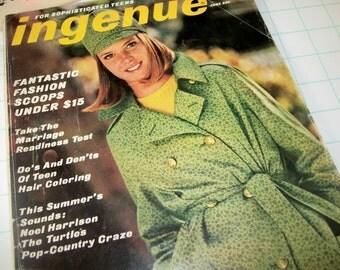 Ingenue Magazine June 1966 . for sopisticated teens, vintage magazine