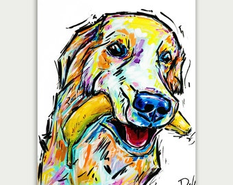 Colorful Dog Art, Custom Dog Paintings, Pet Portrait Acrylic On canvas, Wall Decor, Home Decor