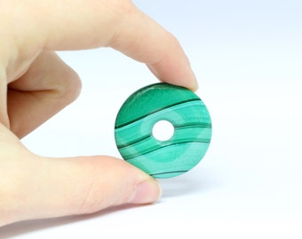 Malachite Donut-shaped Bead