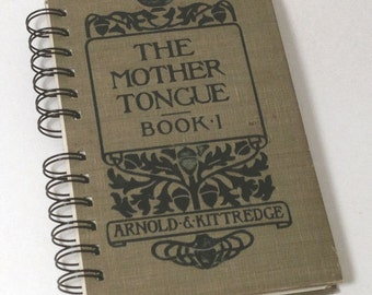 1900 VINTAGE ENGLISH TEXTBOOK Handmade Journal Vintage Upcycled Book Vintage English