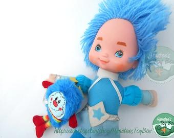 Rainbow Brite Buddy Blue Doll Vintage 1980s Toy by Mattel
