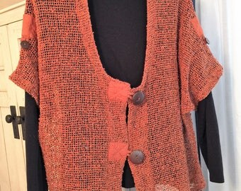 Open Weave Top for Any Season Layering - fits to 2X