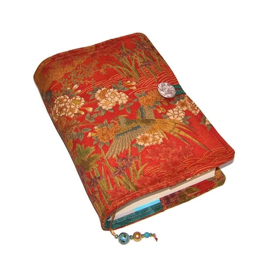 Book Cover Handmade : Handmade book cover bible sleeve vintage kimono silk forest