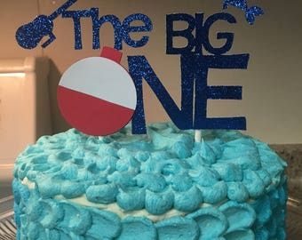 The Big One Fishing Theme Cake Topper